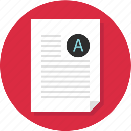 business, document, layout, letter, page, report, write icon