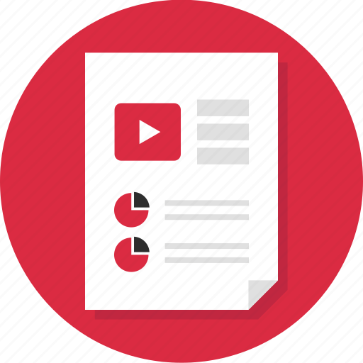 business, document, media, page, report, video icon