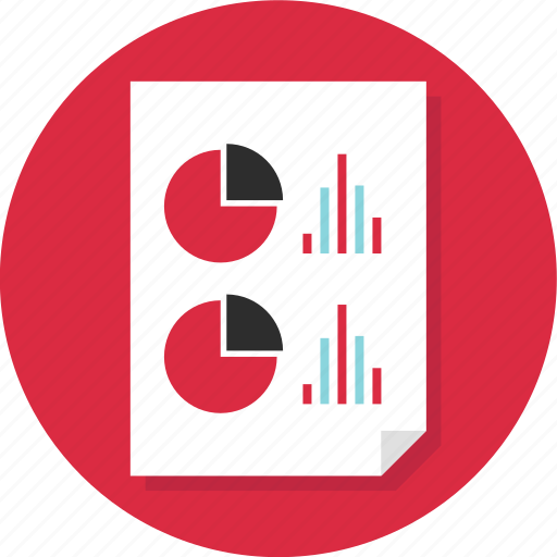 bars, business, chart, document, page, pie, report icon