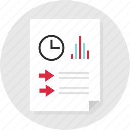 data, doc, document, page, report, time icon