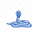 animal, cobra, king cobra, reptile, serpent, snake, vertebrate icon