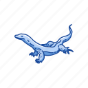animal, lizard, monitor lizard, reptiles, varanus salvador icon