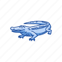 alligator, animal, gator, predator, reptiles, vertebrates icon