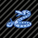 animal, rattle snake, reptile, serpent, snake, venomous snake icon