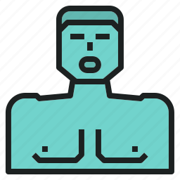 artificial, emergency, model, rescue, respiration icon