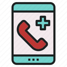 call, emergency, hospital, medical, phone icon