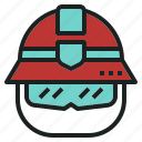 emergency, fire, firefighter, hat, rescue icon
