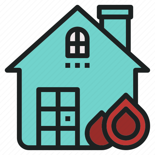 burn, emergency, fire, house, rescue icon