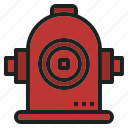 fire, hydrant, outlet, pipe, water icon
