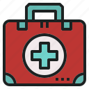 aid, bag, first, kit, medical, rescue icon