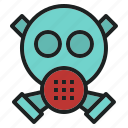 air, danger, gas, mask, pollution, toxic icon