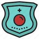 emergency, gadge, patch, rescue, security, team icon