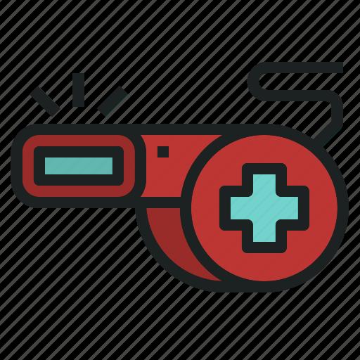 emergency, help, rescue, signal, sound, whistle icon