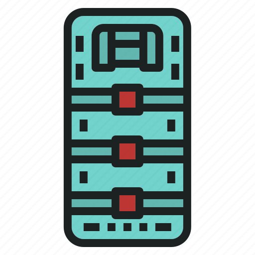 board, emergency, rescue, spinal icon