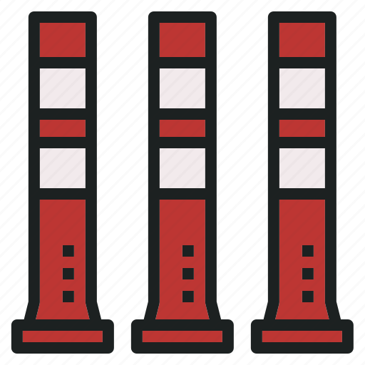 bollard, rescue, street, traffic, transportation icon