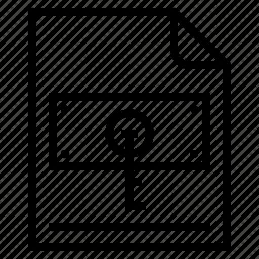 documents, idea, key, lock, research icon