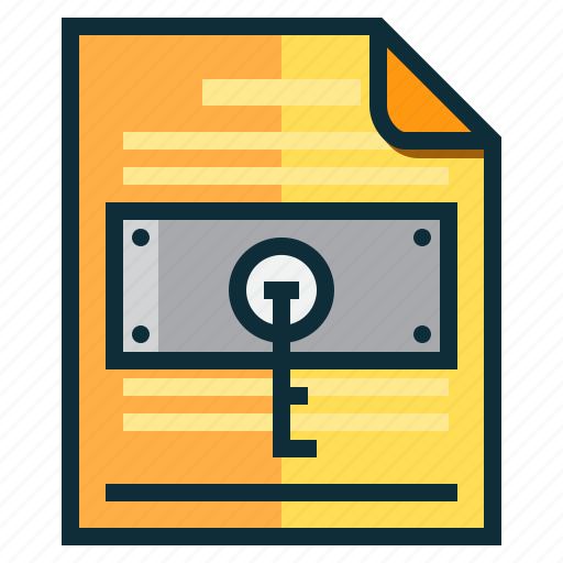 Documents, idea, key, lock, research icon - Download on Iconfinder