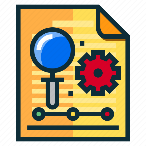 business, documents, idea, research, search icon