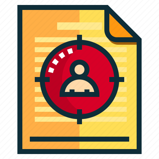 Documents, idea, research, target icon - Download on Iconfinder