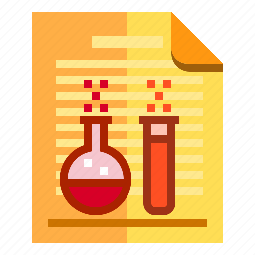 chemical, documents, idea, research icon