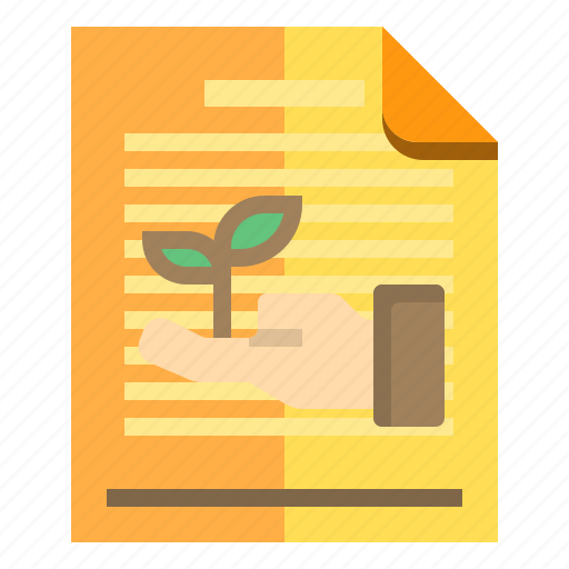 documents, ecology, idea, research icon