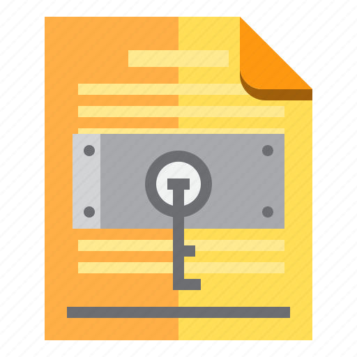 documents, idea, key, research icon
