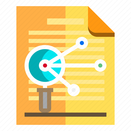 documents, idea, research, search icon