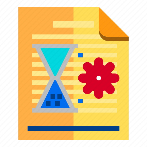documents, idea, research, time icon