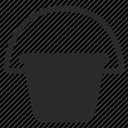 pail, reservoir, water icon