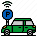 car, network, park, parking, transport