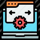 design, responsive, setting, technology, website icon