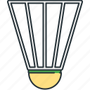 badminton, birdie, shuttlecock, sport icon