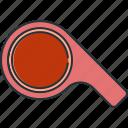 coach, sport, whistle icon