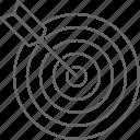 arrow, darts, target icon