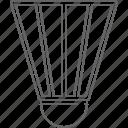 badminton, racket, shuttlecock icon