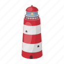 beacon, light, lighthouse, marine, ship, signal, tower icon