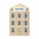 building, hotel, house, rest, service, travel icon