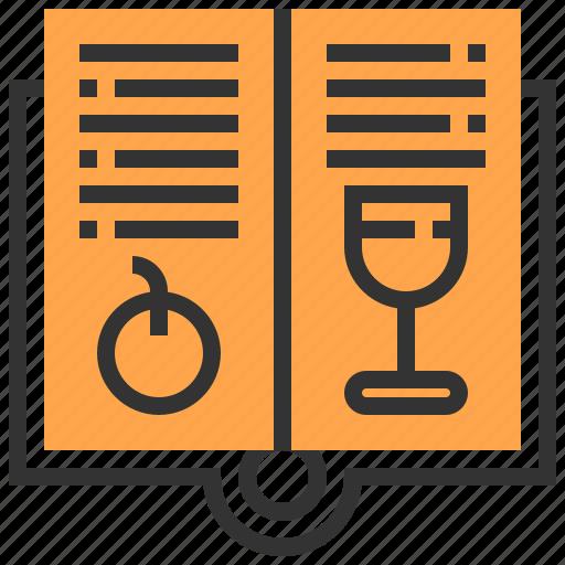 book, dinner, food, kitchen, lunch, menu, restaurant icon
