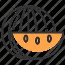 dinner, food, fruit, kitchen, lunch, restaurant, water melon icon