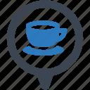 coffee, location, shop icon