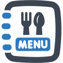 food, menu, restaurant icon