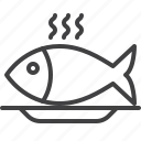 fish, food, fry, plate icon
