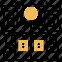 bistro, building, dining, restaurant, shop icon
