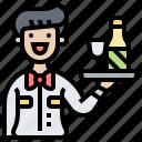 drink, restaurant, service, staff, waiter