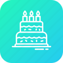 birthday, cake, dessert, food, sweet icon