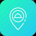 food, location, restaurant, sine icon