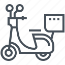 bike, courier, delivery, motorbike, motorcycle, scooter icon