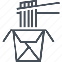 business, chopsticks, commerce, cooked, cooking, delicious, dinner icon