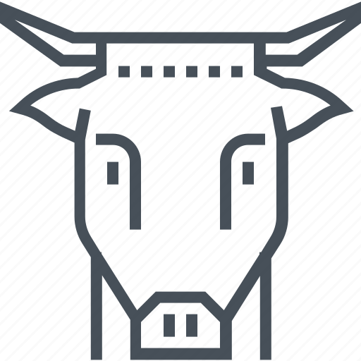 beef, bull, cow, farm, food, head, milk icon