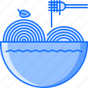 food, fork, pasta, plate, restaurant, spaghetti icon
